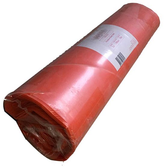 Plastic Orange Handy Roll 2mx5mx200um (0.2mm) thick Builders/Concrete Film
