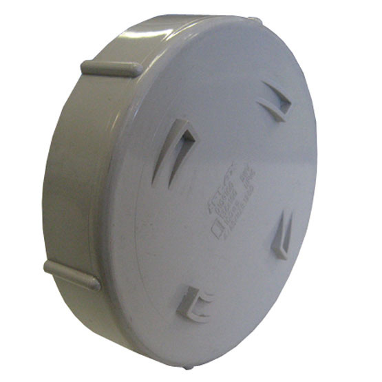 Pipe Cap PVC DWV 100mm Threaded