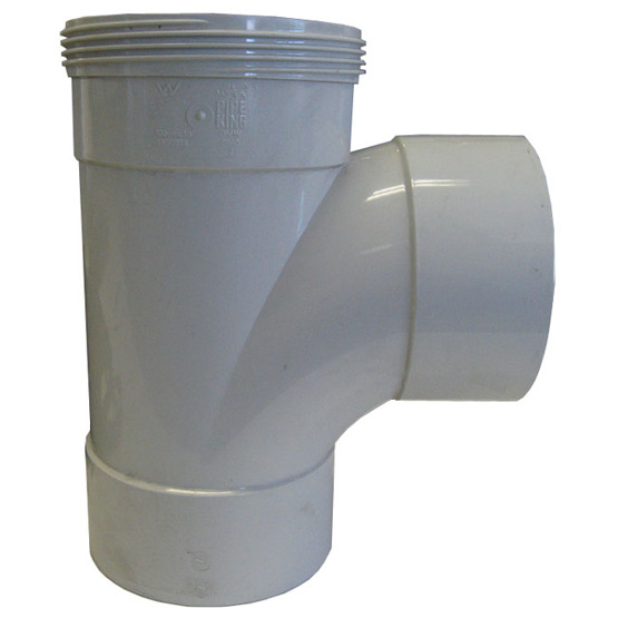 Pipe Tee Junction PVC DWV 100mm 88 Degrees
