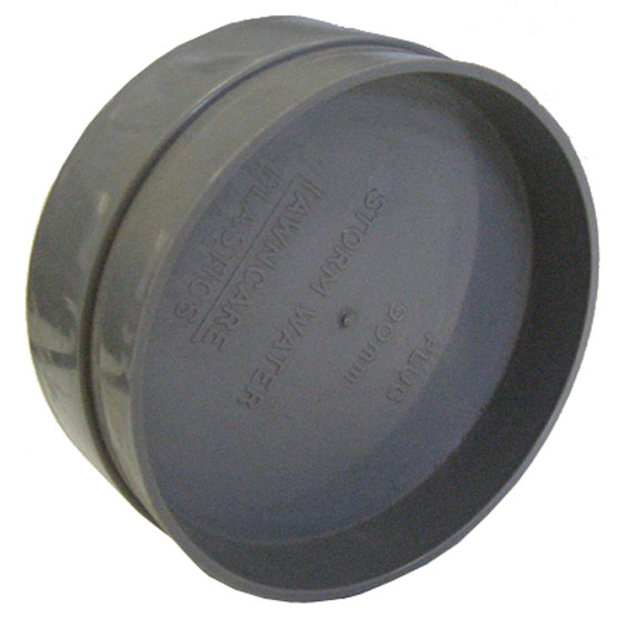 Pipe Cap PVC SWF 90mm Push On