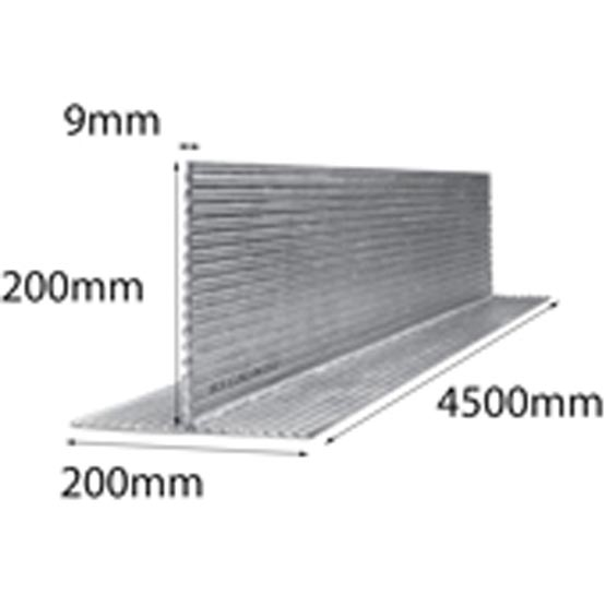 Lintel T Bar 200x200x9x4500mm Multi-Rib Galintel