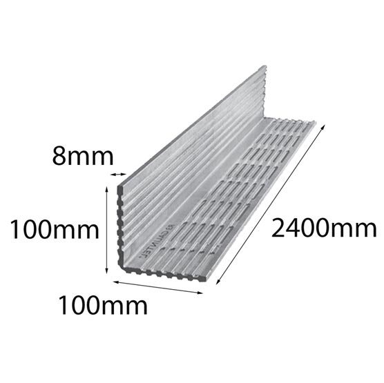 Lintel Rendabar 100x100x8x2400 mm Galintel