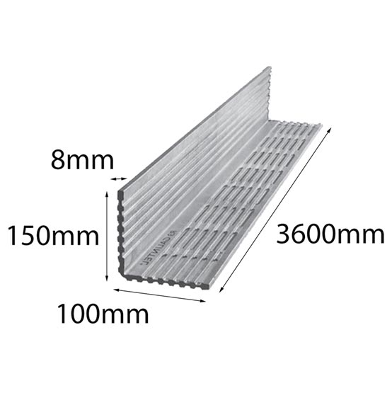 Lintel Rendabar 150x100x8x3600 mm Galintel