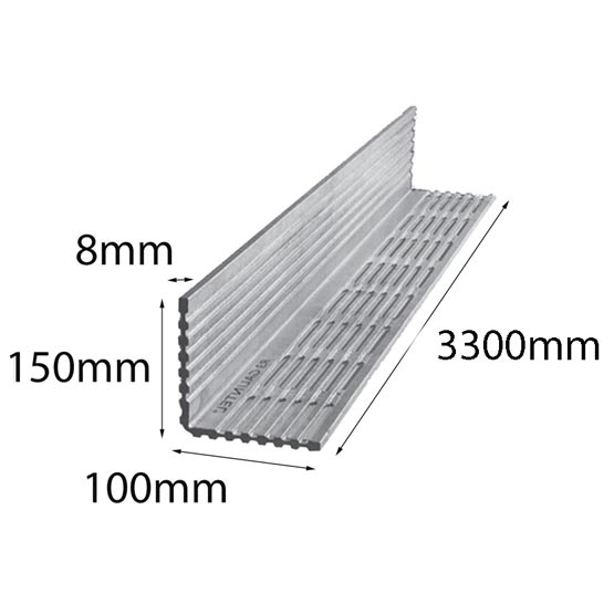Lintel Rendabar 150x100x8x3300 mm Galintel