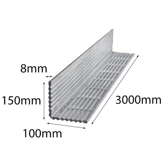 Lintel Rendabar 150x100x8x3000 mm Galintel