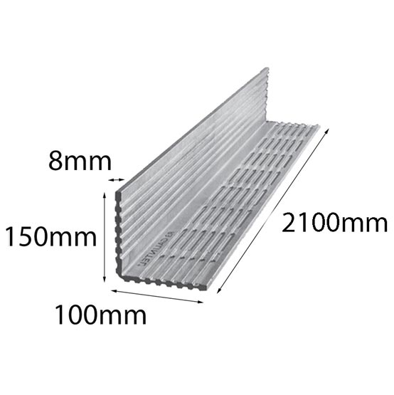 Lintel Rendabar 150x100x8x2100 mm Galintel