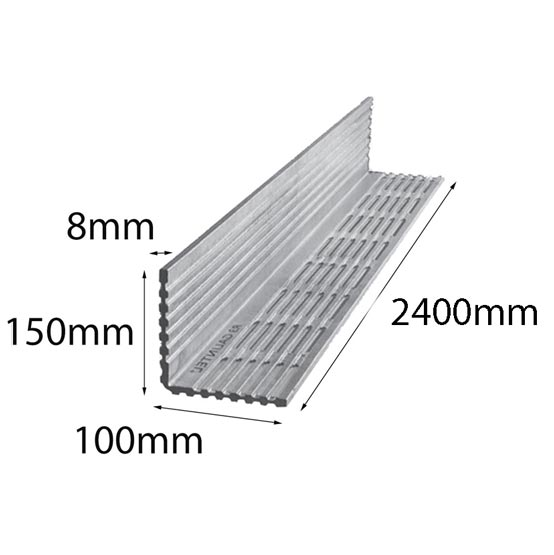 Lintel Rendabar 150x100x8x2400 mm Galintel