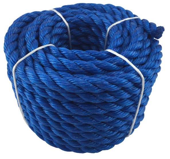 Rope Poly Coil Blue 10mmx10m