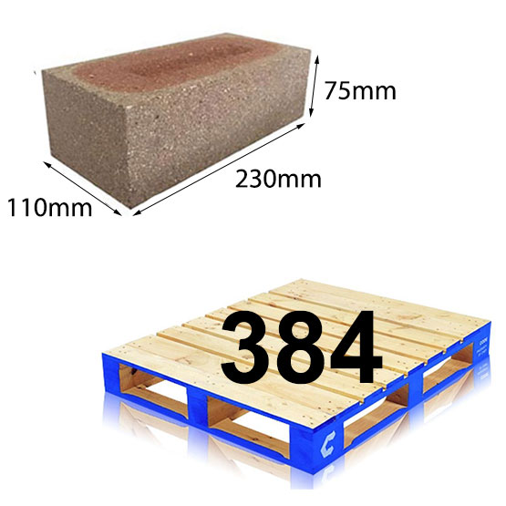 Brick Dry Pressed Commons 230x110x75mm per pallet (384)