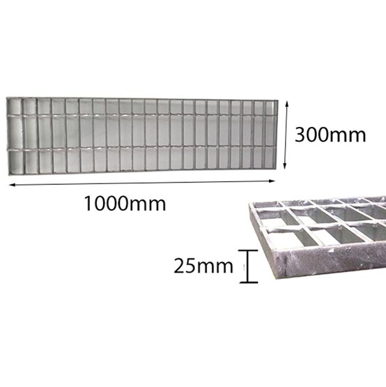 Trench Grate Only 300mmx25mmx1m Galvanised