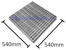 Stormwater Pit Grate Only 540x540x50mm Galvanised Load Bars 50mm