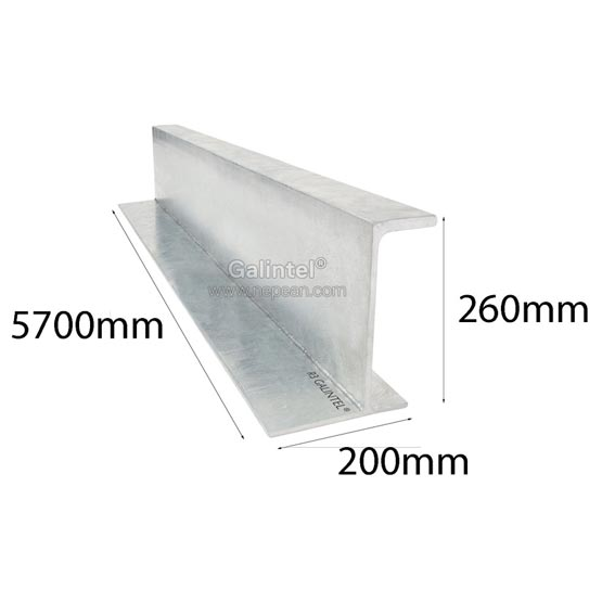 Lintel J Bar 260x200x5700mm Galintel