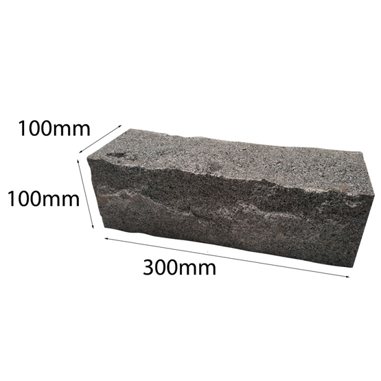 Hand Cut Granite 300x100x100mm Sesame Grey Garden Edging 135 P/Plt