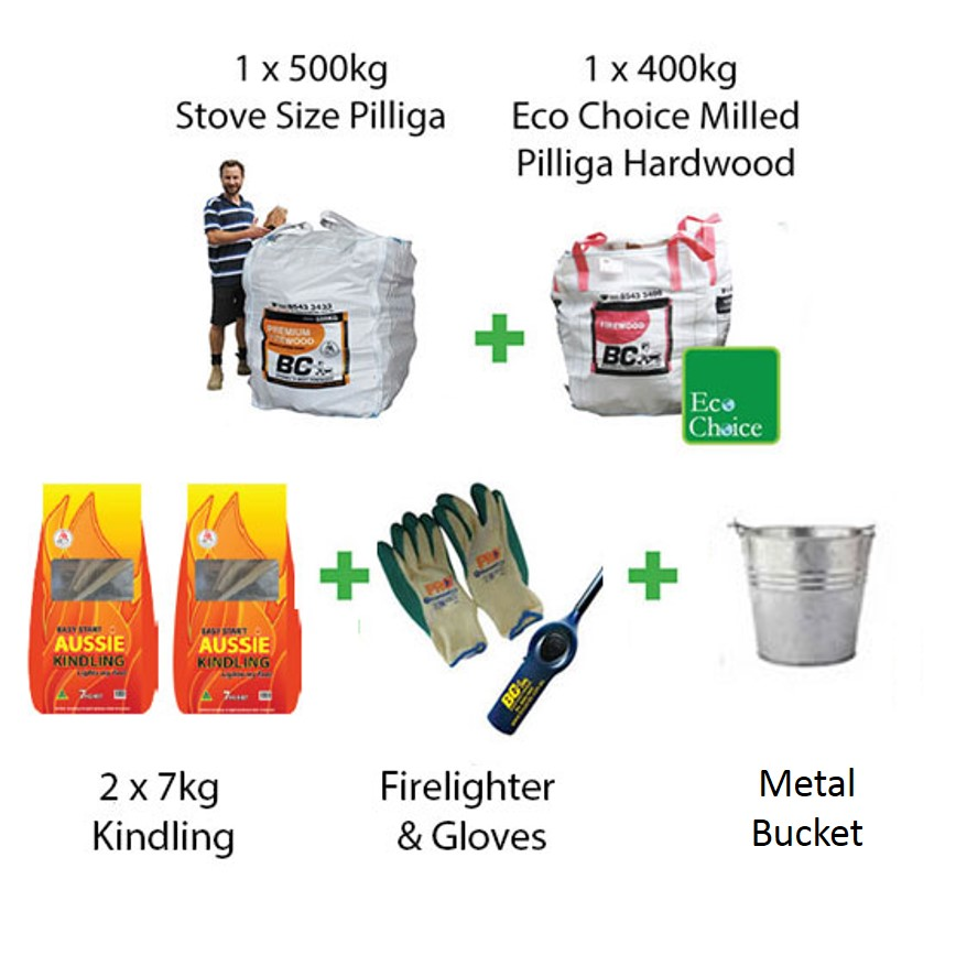 Firewood Starter Pack Stove Size Pilliga (FAA Approved)
