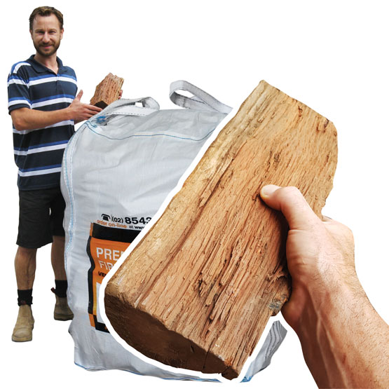 Firewood Bulk Bag 500kg Stove Size Pilliga (FAA Approved)